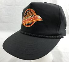 Vancouver Canucks NHL Strapback Rope Brim Black Hat Cap