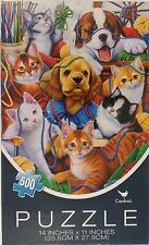 "500 PIECE DOGS & CATS JIGSAW PUZZLES 14"" x 11"" 1 Puzzle/Pk"