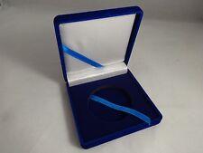 Blue Velvet Presentation display Case 2 inch stand Challenge Coin box Military