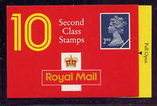 Gb 1990 10 x 2nd Class Stamps Barcode Booklet Hc3
