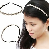 New Flower Pearl Headband Plum Blossom Hair Hoop Bridesmaid Hair Accessories