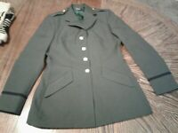 Vintage American Crafstman Green Military Dress Uniform Jacket Blazer Womens12