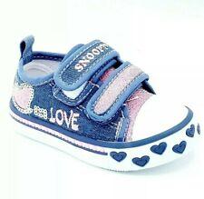 scarpe da bambina ginnastica sportive Sneakers per bimba in tela estivi strappo