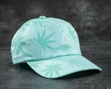 Huf Worldwide Skate Shoes Cap Dad 6 Panel Hat 420 Triple Triangle Mint Plantlife