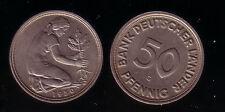 50 Pfennig 1950G  BDL vorzüglich bis stempelglanz, selten