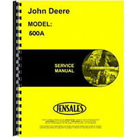 Repair Technical Service Manual Fits John Deere Tractor Loader Backhoe 500A