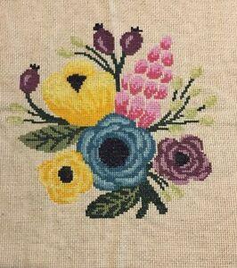 Finished Cross Stitch Flowers