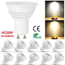 LED GU10 MR16 GU5.3 Ampoule 5W 7W Spotlight Bulbs Blanc Chaud Blanc Froid Lampe