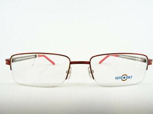 Rote Herrenfassung Markenbrille Metallgestell eckig rechteckig preiswert Gr. M