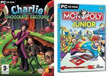 Charlie and the Chocolate Factory & monopolio Junior Nuevo y Sellado
