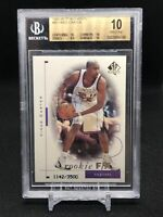 1998-99 SP Authentic Vince Carter Rookie BGS 10 PRISTINE-Pop 1 eBay-Hall Of Fame
