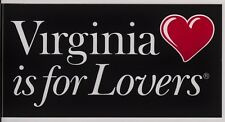 Virginia is for Lovers bumper stickers - Pack of 3. Free Shipping