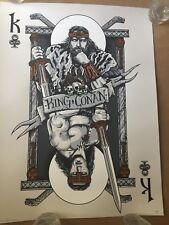 King if Clubs: King Conan Variant by Patrick Connan Screen Print w/ Metallic Ink