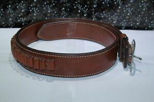 Bianchi leather bullet belt 34 Holds 24 rounds vintage