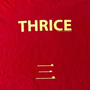 Thrice early band t shirt red