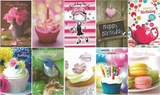 Pack of 10 Quality Female Birthday Cards. FB004