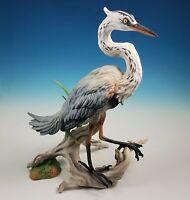RARE Limited Edition Boehm Great Blue Heron 40583 Large Porcelain Bird Sculpture