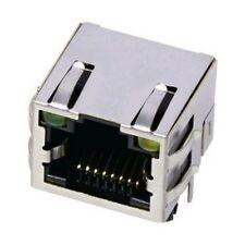 2 x RJ45  PCB Socket  Metal with Led