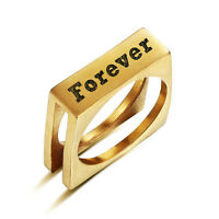 Personalized Stainless Steel Name Ring Engraving Jewelry For Women Men
