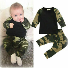 Toddler Baby Boys Camouflage T-shirt+Trousers Outfits Clothes Set