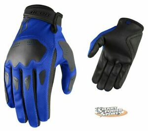 ICON 2021 Adult HOOLIGAN Gloves - BLUE - ALL SIZES - Street - Touch Screen