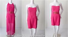 PILGRIM  Pink Strapless Mini Dress with Long Overlay and Belt Size 14 US 8