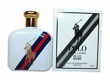 Polo Blue Sport By Ralph Lauren Men 4.2 oz 125 ML Eau De Toilette Spray Tst New