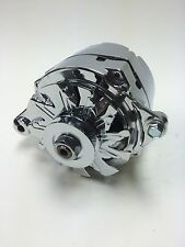 FORD STREETRODS ONE WIRE 1 WIRE CHROME ALTERNATOR 135 AMPS W/1V PULLEY