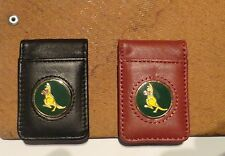 Golf Money Clip Quality Black Leather- Kangaroo Golf Ball Marker