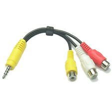 3.5mm Mini AV Male to 3RCA Female M/F Audio Video Cable Stereo Jack Adapter