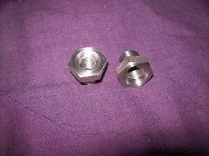 BSA Bantam D1 D3 D5 C10L stainless front wheel nuts