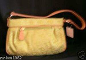 Liz Claiborne Purse Handbag Logo Heritage Lime NEW