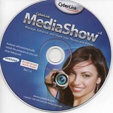 Cyberlink MediaShow v4 - Manage Enhance & Share Photos & Videos Software CD