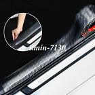 Carbon Fiber Vinyl Parts Accessories Car Door Sill Scuff Plate Sticker Protector