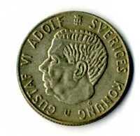 Moneda Suecia 1 corona año 1967 Rey Gustaf VI Adolf plata .400 Sveriges  coins