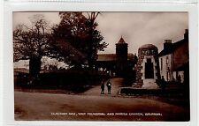 CLACHAN OAK, WAR MEMORIAL AND CHURCH, BALFRON: Stirlingshire postcard (C26119)