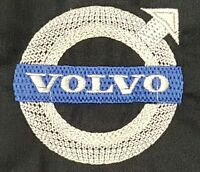 NEW CUSTOM BLACK ZIPPED HOODIE HOODED SWEATSHIRT EMBROIDERED VOLVO LOGO S-4X