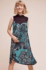 Anthropologie Maeve Butterfly Lace Swing Silk Dress-$138