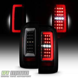 Black Smoke 2015-2019 Chevy Colorado Full LED Tube Tail Lights 15-19 Brake Lamps