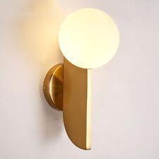 Nordic Modern 1 Light LED Glass Globe Wall Sconce Brass Bower Wall Light Fixture