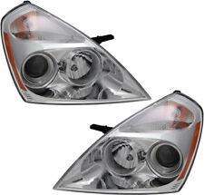 Halogen Headlights Headlamps Assembly w/Bulb NEW Pair Set for 2007 Kia Sedona