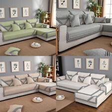 GS:Leinen Sofa Matte Antirutsch Abdeckung Armlehne Handtuch Sofahusse Sofabezüge