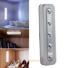 5 LED Tap Lights Self-Stick Under Cabinet Push Night Light Kitchen Closet Lamp