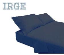 Completo lenzuola matrimoniale letto due piazze set coperte cotone a tinta unita