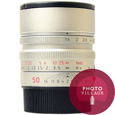 Leica M 50mm f/1.4 Summilux ASPH Silver Chrome Lens -- CERTIFIED PRE-OWNED