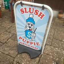 More details for slush puppie puppy outdoor pavement sign stand heavy base professional tough