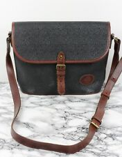 MULBERRY Vintage Scotchgrain & Brown Leather Satchel Shoulder Across Body Bag