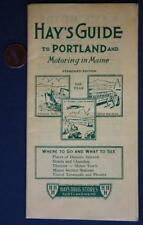 1960 Portland,Maine Hay's Street Guide booklet-Where to Go-What to See with maps