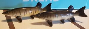 Vintage Realistic Muskellunge Salt And Pepper Shakers