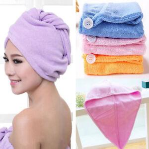 Soft Microfiber Hair Wrap Towel Drying Bath Spa Turban Wrap Dry Shower Head Cap
